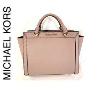 Michael Kors Bags - NWT authentic MK leather Brandi satchel fawn